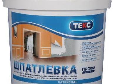 Шпатлевка готовая ТЕКС Профи латексная финишная 8кг