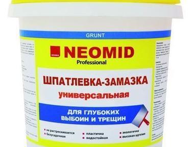 Шпатлевка готовая Неомид для выбоин и трещин 1,4кг