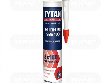 Клей монтажный Титан MULTI-USE SBS 100 бежевый 310 мл
