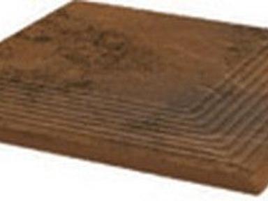 Ступень угловая структ  рифлен. Semir Beige 30*30*1.1 Польша
