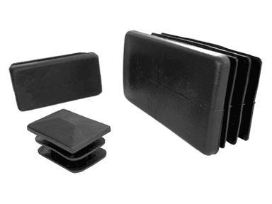 Заглушка квадратная внутр.50*50 мм черная