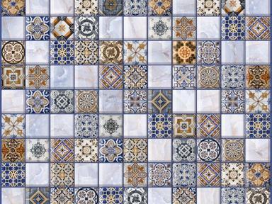 Мозаика Орнелла синяя 5032-0200 30X30