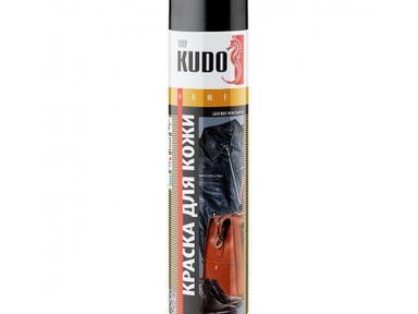 Краска аэрозоль KUDO 400мл д/кожи черная KU-5241