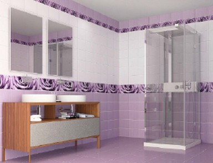 ПВХ панель  2700х250х7  Капли росы фиолет