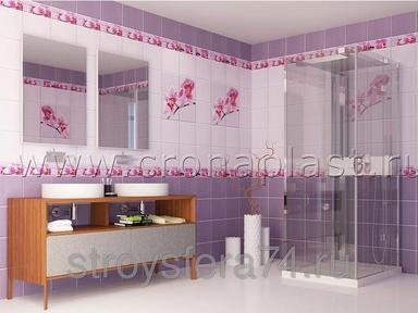 ПВХ панель  2700х250х7  Орхидея 3D