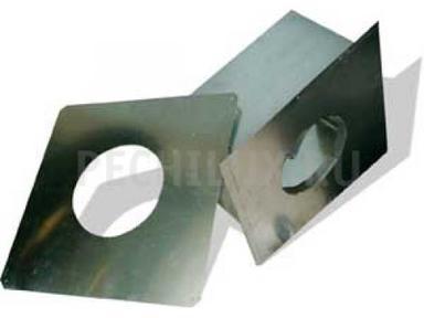 Экран защитный 500х500 с отв ф280 (нерж0,5)