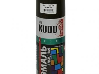 Краска аэрозоль KUDO 520мл хаки KU1005