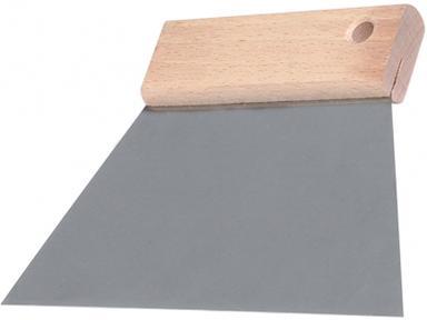 Шпатель 300мм сталь деревянная ручка трапеция