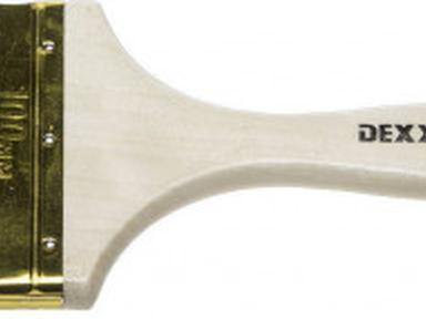 Кисть флейцевая DEXX 100мм натуральная для красок и эмалей