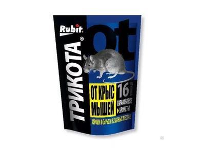 """Средство от мышей """"Рубит"""" ТРИКОТА парафиновый брикет 160гр"""
