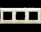Рамка 3-мест. горизонтальная кремовая (Legrand) 774353