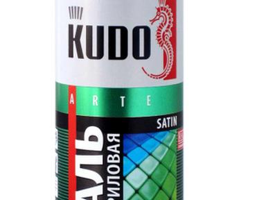 Краска аэрозоль KUDO 520мл сатин цинк-жёлтая RAL 1018