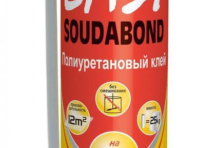 Клей для пенополистирола полиуретан Соудал Soudabond EASY 750мл бытовая