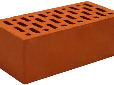 Кирпич обл. полут. М-150 красный BRAER 3,4кг 250 х120 х88 мм (в под.-352 шт.)