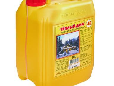 Жидкость для систем отопления Теплый дом 10кг -65* красный