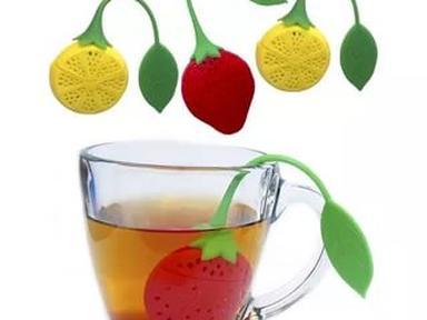 Ситечко для чая 2 диз лимон ,клубника
