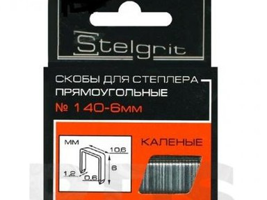 Скоба 6х1,2мм тип140 Stelgrit