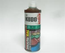 Краска аэрозоль KUDO 520мл сатин коричневая RAL 8003