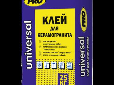 """Клей для керамогранита """"UNIVERSAL"""" 25 кг"""