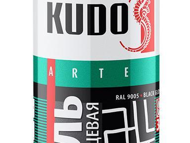 Краска аэрозоль KUDO 520мл черная глянец KU-1002