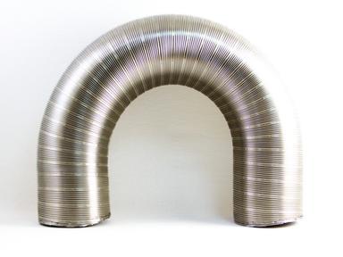 Газоход ГГН ф 115 1.5м нерж.ст. AISI 430, (гофра)