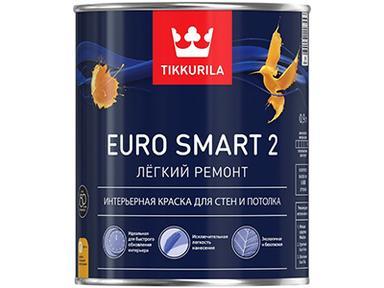 Краска Тиккурила ЕВРО-2 латексная белая 0,9л