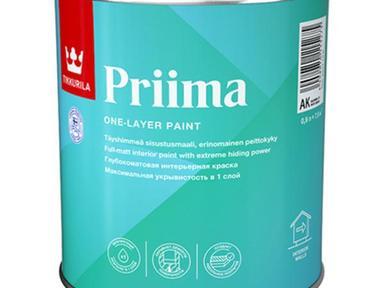 Краска Тиккурила ПРИМА интерьерная глубокоматовая 0,9л