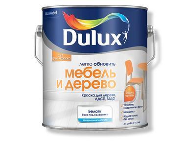 Краска DULUX акрил дерево и мебель 2 л белая
