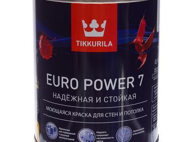 Краска Тиккурила ЕВРО-7 латексная белая 0,9л