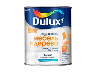 Краска DULUX акрил дерево и мебель 0,75л белая