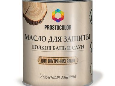 Масло для бань и саун Простоколор 0,75л светлое