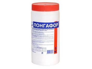 Маркопул Кемиклс/на основе хлора/ Лонгафор/ 1кг банка органический хлор-90% табл.200гр