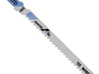 Пилки Т227 D для лобзика алюминий 3мм 5 шт.