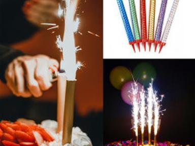 Свеча в торт Фонтан 15см 6шт