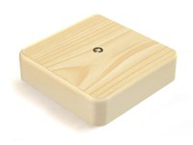 Коробка распаячная 75х75х20 (без клеммы) сосна IP40 ЭРА Б0031179