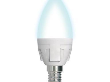 "Лампа светодиодная.""Свеча""Norma.Белый свет (4000K).Volpe,C37-7W/NW/E14"