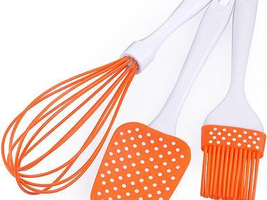 Набор кухонный 3пр силиконовый 28072 оранж