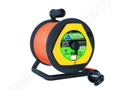 Удлинитель на катушке с выносной розеткой UG102B-140BL,б/з  ПВС 2х1 10A 40м IP44