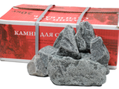 Камни для бани ГАББРО-Диабаз обвалованный 20 кг