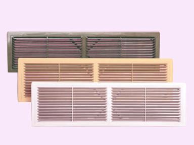 Решетка пластмассовая переточная вентиляц. 4513РП, коричневая