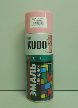 Краска аэрозоль KUDO 520мл розовая KU-1014
