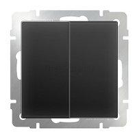 Выключатель WERKEL 2 кл прох.WL08-SW-2G-2W-черный/мат