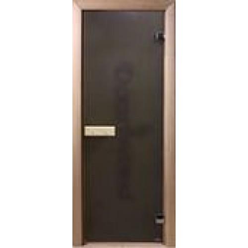 Дверь банная стекло DoorWood Бронза 1900х700х8мм  прозр