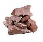 Камни для бани МАЛИНОВЫЙ КВАРЦИТ 20 кг колотый