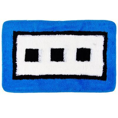 Коврик для ванной акрил, 50*80см Квадраты синий