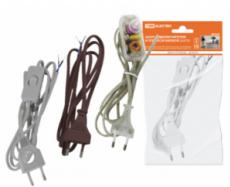 Удлинитель с вилкой и выключателем 2х0,75м,2м прозрачный,ТДМ 1305-0004