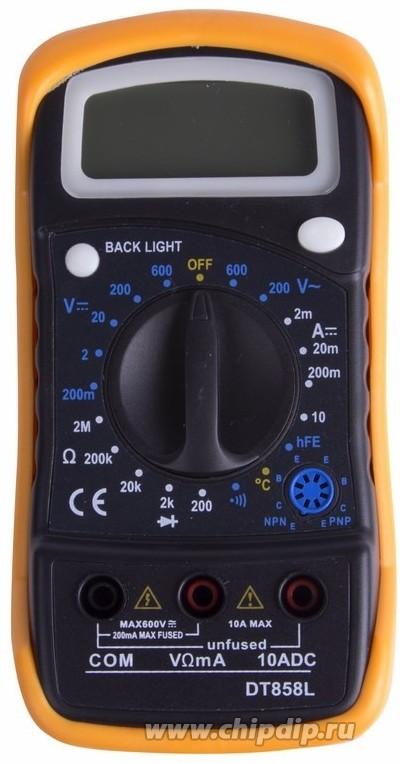 Цифровой мультиметр универсальный MAS838L(DT858L).13-3022