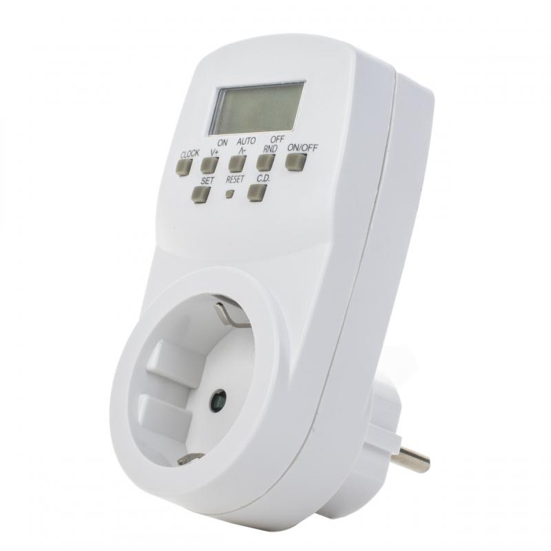 Таймер электронный розеточный Юниэль Е20 белый 1600Вт,24ч