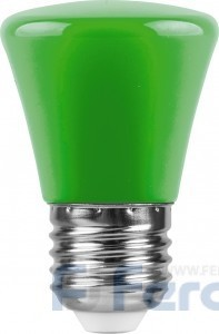 Лампа светодиодная Ферон 1W.220V.E27.зеленый,арт.25912 LB-372