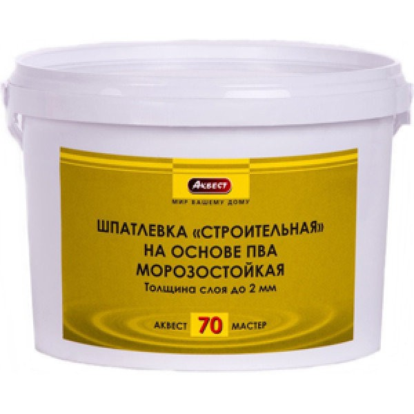Шпатлевка готовая на ПВА Аквест-70 1,5 кг